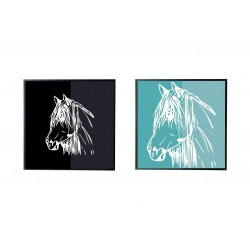CADRE EQUESTRE DESIGN Tête de cheval