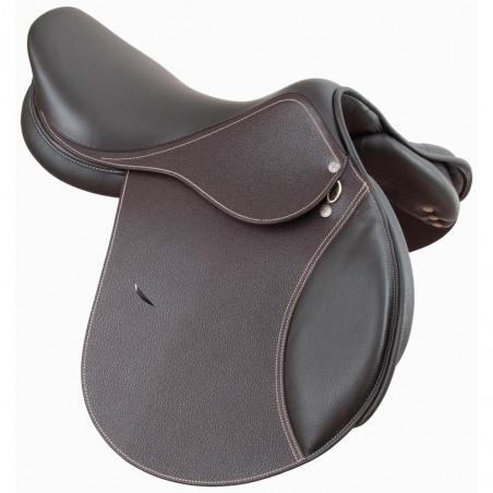 Selle cuir mixte Barry