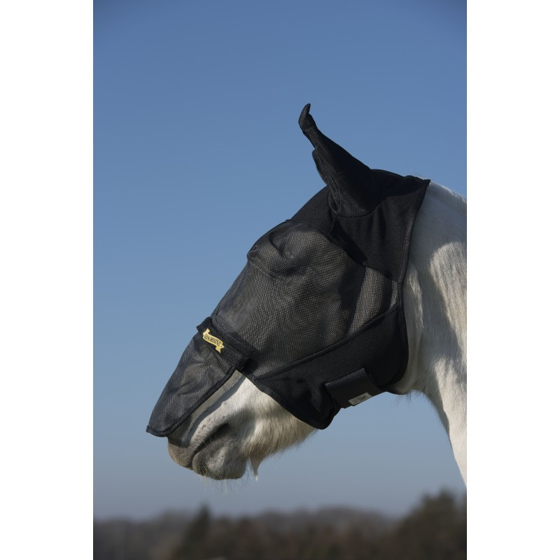 Masque Anti Mouche Anti UV Absorbine Avec Nez