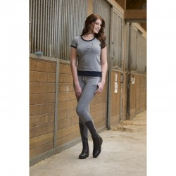 TEE SHIRT EQUITHEME JUMP STYLE MANCHES COURTES FEMME