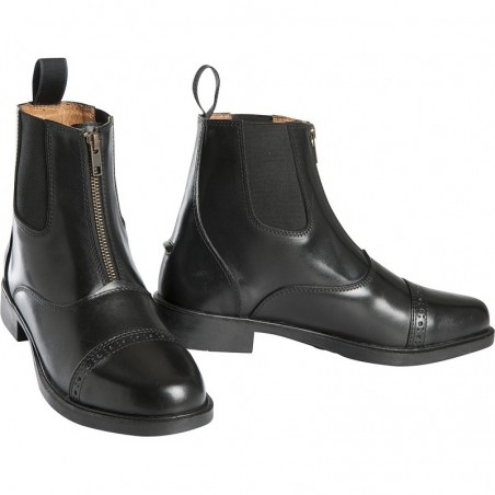 BOOTS EQUITHEME CUIR A ZIP