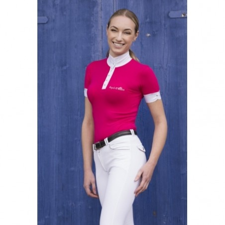 Polo Equitheme Popper Manches Courtes Femme