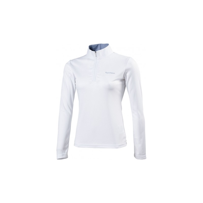 POLO EQUITHEME MANCHES LONGUES FILLE